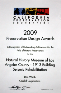 California Preservation Foundation Design Award