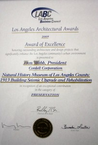 Los Angeles Business Council Award of Excellence